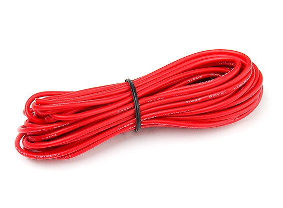 Turnigy High Quality 18AWG Silicone Wire 7m (Red)
