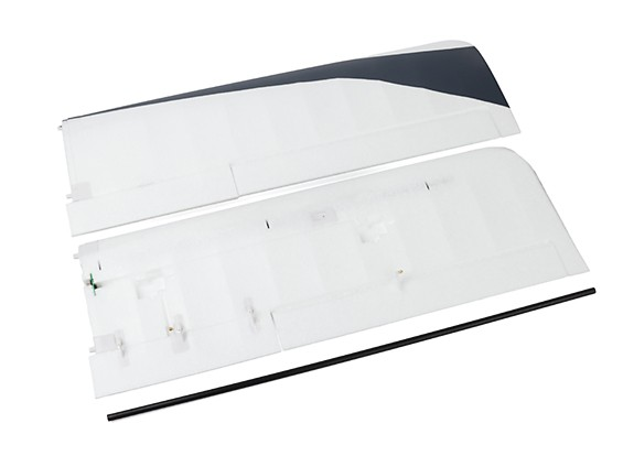 Durafly® ™  Tundra - Main Wing Set w/Control Horns (Orange/Grey)