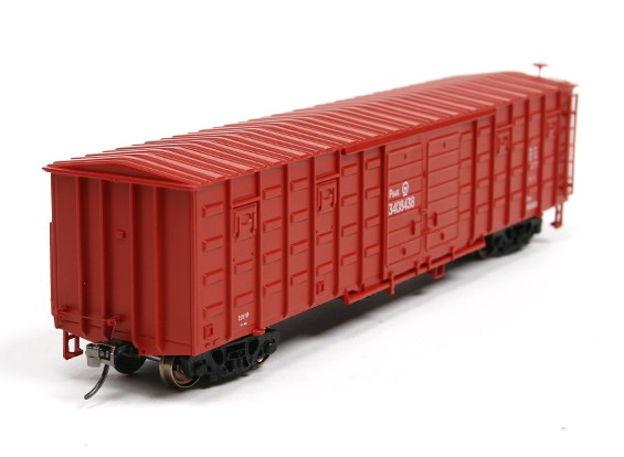 P64K Box Car Brown (4 Pack) HO Scale Type-3