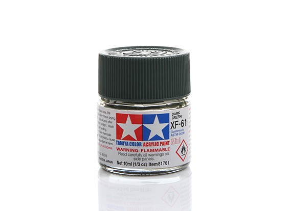 Tamiya XF-61 Flat Dark Green Mini Acrylic Paint (10ml)