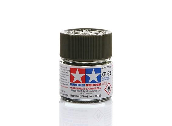 Tamiya XF-62 Flat Olive Drab Mini Acrylic Paint (10ml)