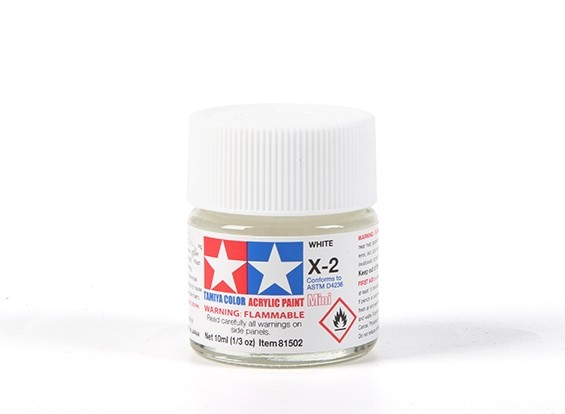 Tamiya X2 Gloss White Acrylic Paint (10ml)