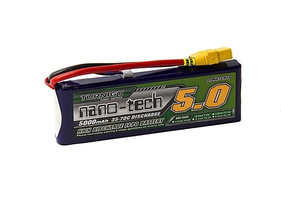 Turnigy nano-tech 5000mAh 2S 35~70C Lipo Pack w/XT-90