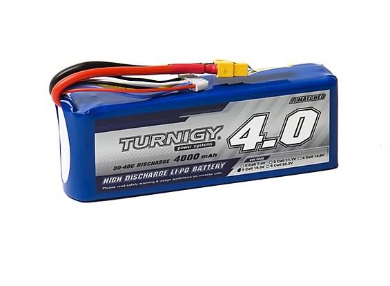 Turnigy 4000mAh 5S 30C Lipo Pack w/XT-60
