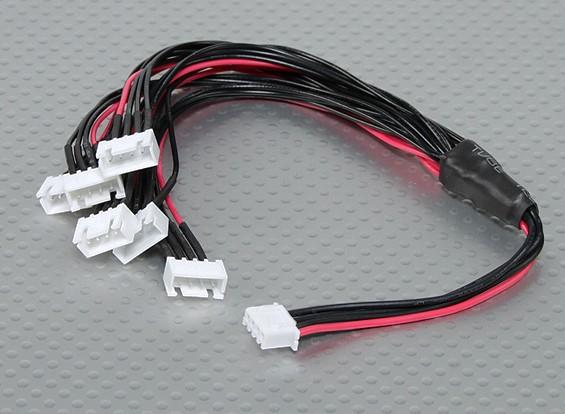 JST-XH Parallel Rest Blei 3S 250mm (6xJST-XH)
