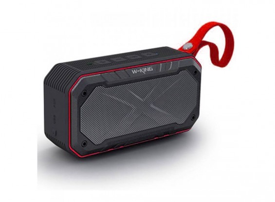 W-King S18 Waterproof Portable Intelligent Bluetooth Speaker With Calls/ FM Radio / AUX - RED