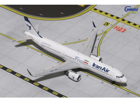 Gemini jets Iran Airlines Airbus  A321-200(S) (New Livery, Sharklets) EP-IFA 1:400 Diecast Model GJIRA1646
