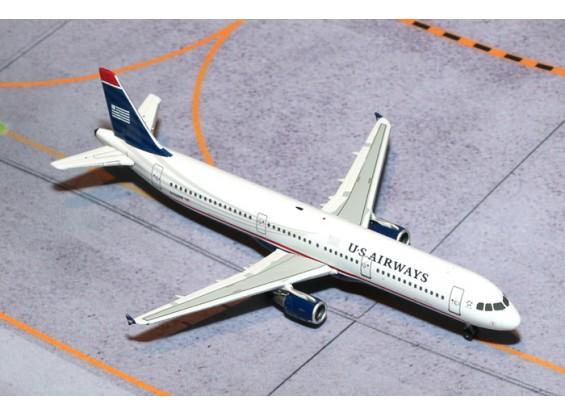 Gemini Jets US Airways Airbus A321-200 N162UW 1:400 Diecast Model GJUSA1398