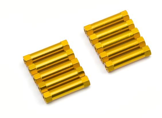 3x22mm Alu. geringes Gewicht runden Ständer (Gold)