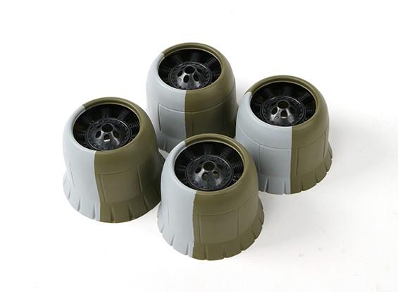 Motorhaube (4 Stück für eine Ebene) Montage grün