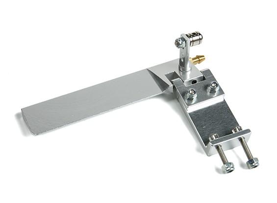 CNC Aluminium Boot Ruder w / Wasser-Pick-up L95mm x W43mm