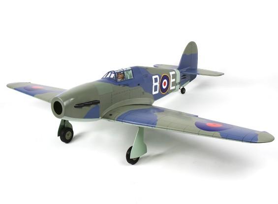 Hawker Hurricane 46 Größe EP-GP Grau-Version - (Elektrische Einziehfahrwerk enthalten)