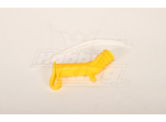 Silikon Muffler Deflector für 50/90 Größe Hubschrauber (Gelb)