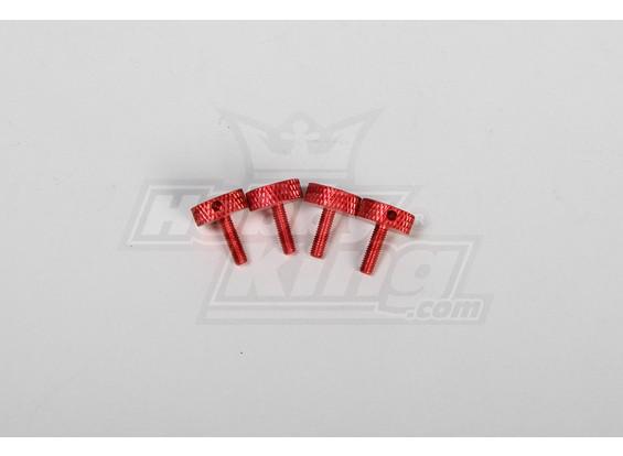 Canopy Rändelschraube (rot) (4 Stück) für alle 30-90 Baldachin