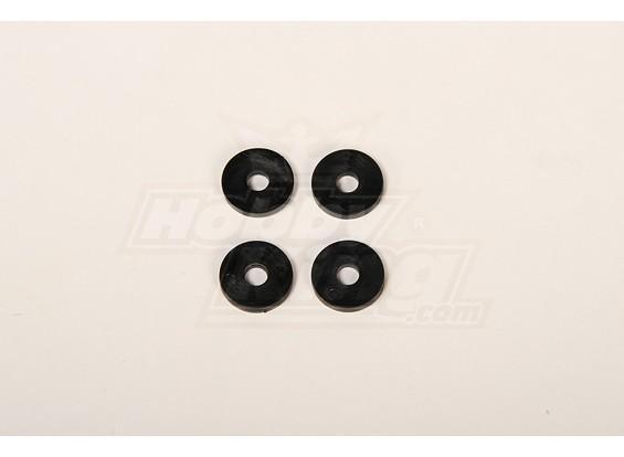Hauptblätter Kunststoffscheibe für 50 Helis 4x20x2mm (4 Stück)