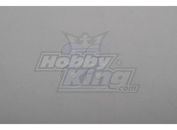 Haupt Klingen POM Scheibe für 90 Heli 5x20x0.5mm (4 Stück)
