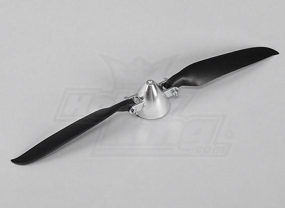 Faltpropeller W / Alloy Hub 40mm / 3mm Welle 10x6 (1pc)