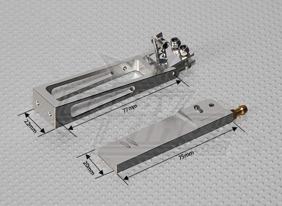 CNC Rudder 75mm mit Wasser Pick Up