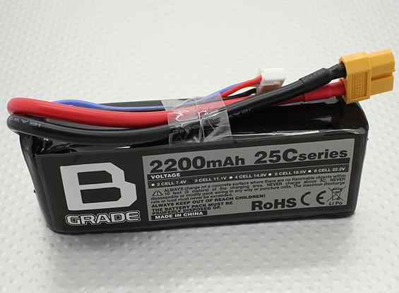 B-Grade 2200mAh 3s 25c Lipo Akku