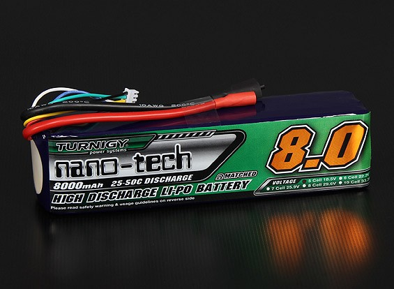 Turnigy Nano-Tech-8000mAh 5S 25 ~ 50C Lipo-Pack