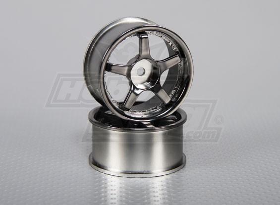 Maßstab 1:10 Wheel Set (2 Stück) 5-Speichen- RC Car 26mm