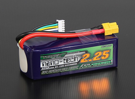 Turnigy Nano-Tech-2250mAh 5S 65 ~ 130C Lipo-Pack