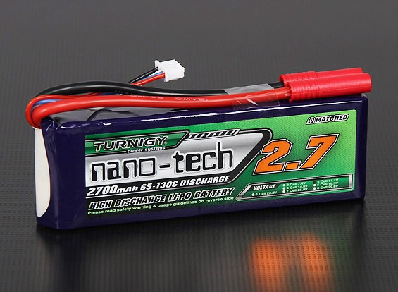 Turnigy Nano-Tech-2700mAh 3S 65 ~ 130C Lipo-Pack