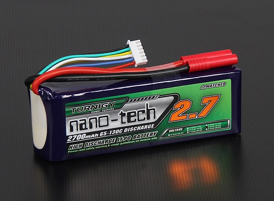 Turnigy Nano-Tech-2700mAh 5S 65 ~ 130C Lipo-Pack