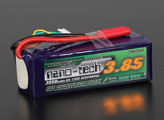 Turnigy Nano-Tech-3850mah 6S 65 ~ 130C Lipo-Pack