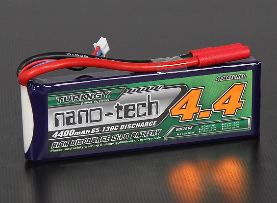 Turnigy Nano-Tech-4400mAh 2S 65 ~ 130C Lipo-Pack