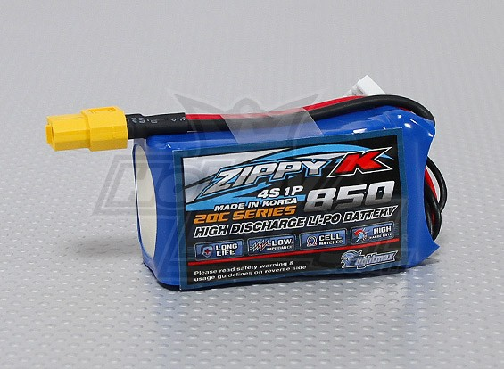 Zippy-K FlightMax 850mAh 4S1P 20C Lipo Akku