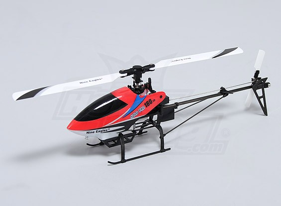 Solo PRO 180 3G Flybarless 3D Micro Helicopter - Rot (AUS-Stecker) (RTF)