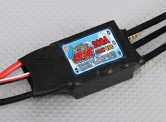 Birdie 200A Brushless Boot ESC (NO BEC)