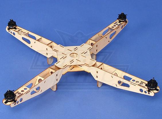 Hobbyking Mini Quadcopter Rahmen mit Motoren (550mm)