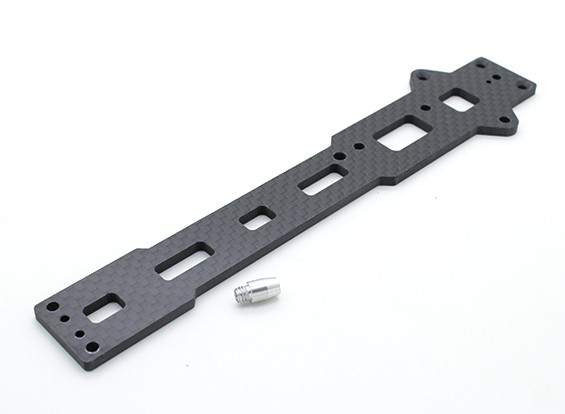 Obere Chassisplatte (Kohlefaser) w / Hardware - A2003T, 110BS und A2010