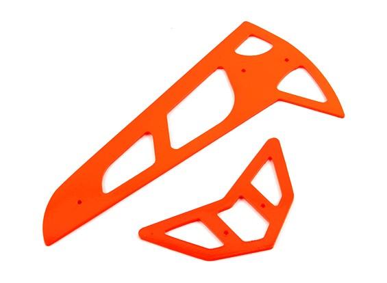 Neon Orange Fiberglas horizontale / vertikale Flossen Trex 600