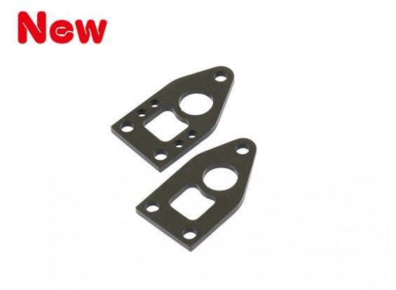 Gaui 100 & 200 Größe CNC Heckrahmen Set (schwarz-eloxiert)