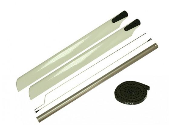 Gaui 425 & 550 475L-Holz-Blades - & - Tail Boom-Umbausatz (mit Gürtel 522XL)
