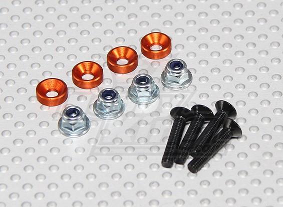 Farbe Servo Befestigungsschraube Set (orange)