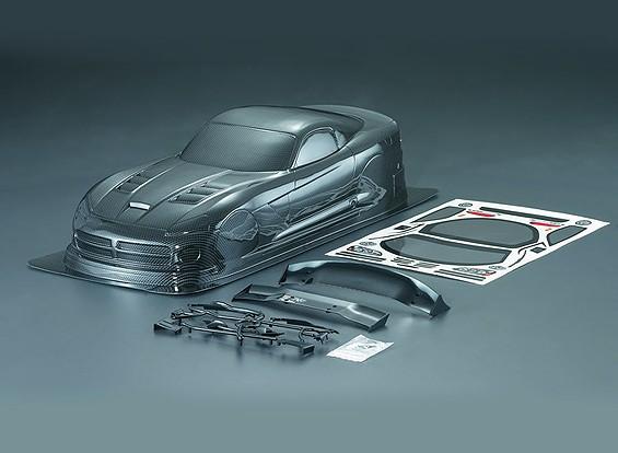 1/10 Viper SRT10-Carbon-Faser-Art-Auto-Körper-Shell (190mm)