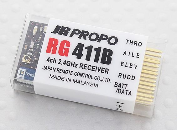 JR RG411B 4-Kanal-Park-Flyer 2,4 GHz DMSS Empfänger w / Telemetrie