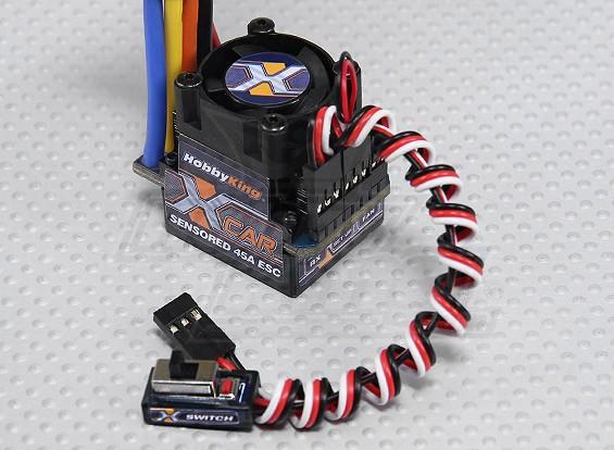 HobbyKing® ™ X-Car 45A Brushless Car ESC (sensored / geber)