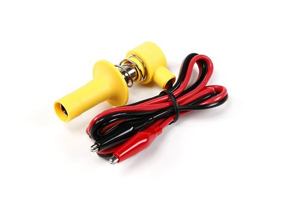 Lock-On Glowclip mit Lead & Krokodilklemmen (gelb)