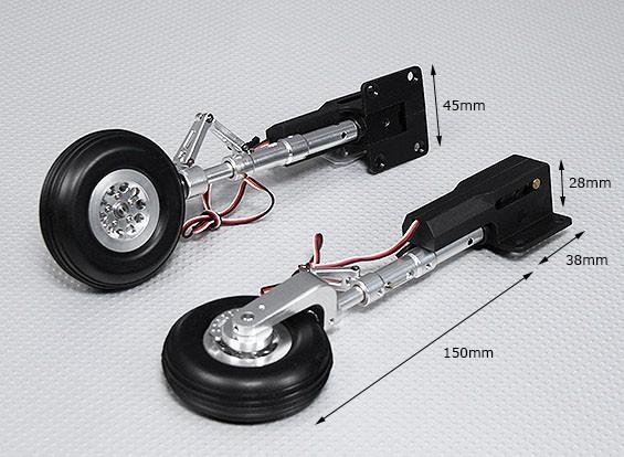 90 Grad den elektrischen Betrieb mit Metall Trunnion, Alloy Oleo Leg & Alloy Wheel (2pc)