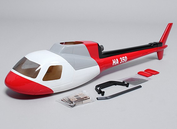 AS350 GFK-Rumpf für 450 Heli