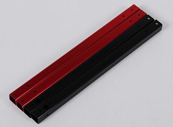 Hobbyking X550 Aluminium Ersatz Booms (2 Stück rot / 2ST schwarz)