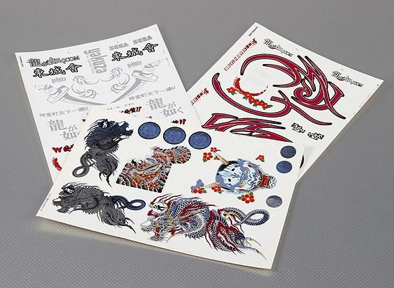 Self Adhesive Decal Sheet - East City Club VIP-Art Maßstab 1:10