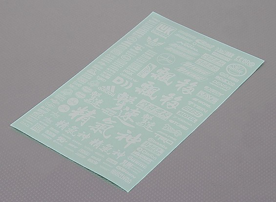 Self Adhesive Decal Sheet - Charakter Maßstab 1:10 (weiß)