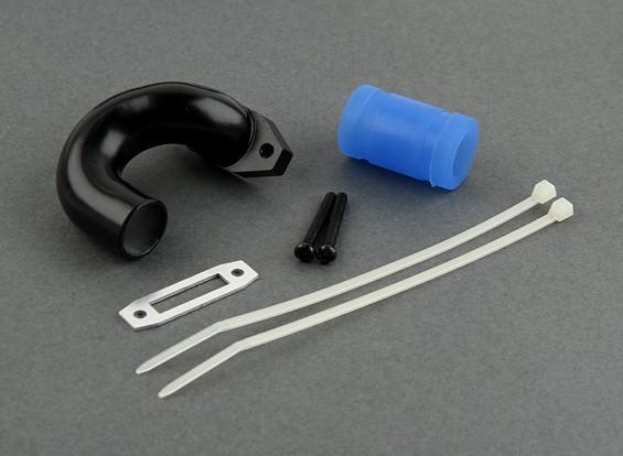 15mm Exhust Header (Schwarz)