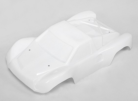 Unpainted Körper Shell w / Abziehbilder 1/10 Turnigy 4WD Brushless Short Course Truck